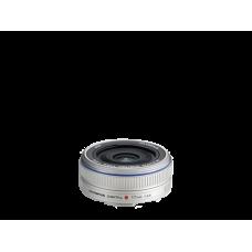 Объектив Olympus M.ZUIKO DIGITAL 17mm 1:2.8 Pancake серебристый (N3593592)