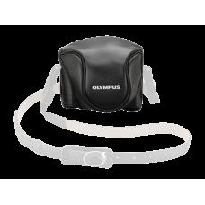 Кожаный чехол Olympus CSCH-118 для фотоаппарата Stylus 1 черный (V600079BW000)