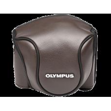 Кожаный чехол Olympus CSCH-118 для фотоаппарата Stylus 1 коричневый (V600079NW000)