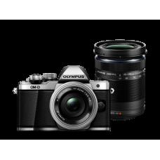 Фотоаппарат Olympus OM-D E-M10 Mark II Pancake Double Zoom Kit с объективами 14-42 EZ и 40-150mm серебристый (V207053SE000)
