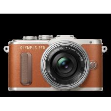 Фотоаппарат Olympus PEN E-PL8 Pancake Kit с 14-42 EZ коричневый (V205082NE000)